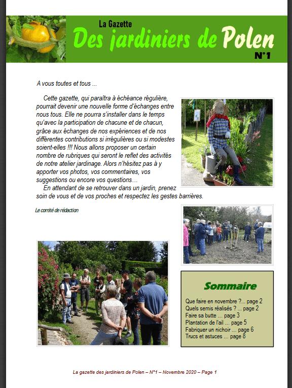 La gazette des jardiniers de Polen