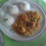Saint-Jacques au curry de légumes